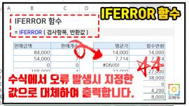 IFERROR 함수 사용법 PNG