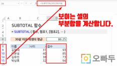 엑셀 SUBTOTAL 함수 사용법 (예제파일) :: 수학 함수