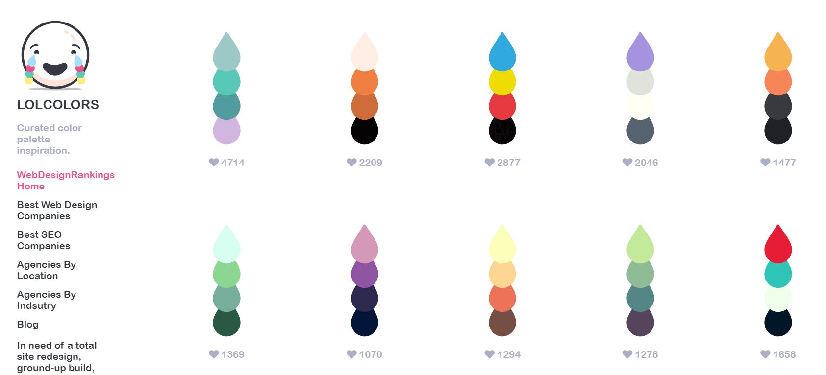 2-3 차트 테마 색상표