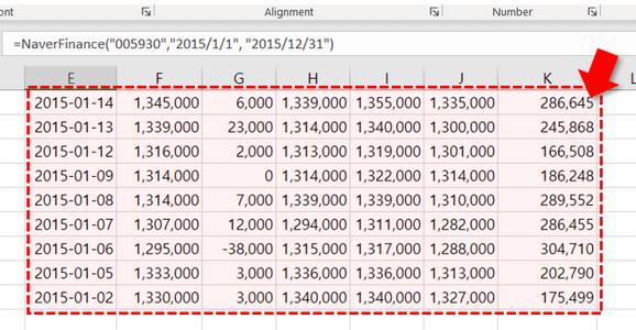 엑셀 네이버 주식 정보 함수