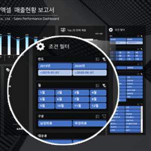 엑샐 쇼핑몰 매출현황 대시보드 필터