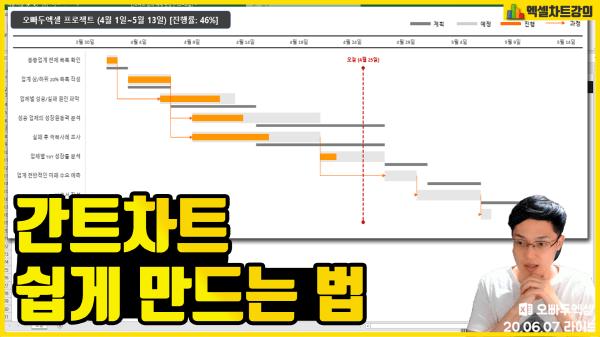 엑셀 간트차트 만들기 썸네일 최종_R
