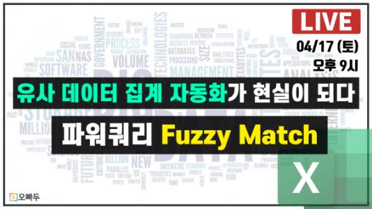 엑셀 유사 데이터 집계 자동화 파워쿼리 Fuzzy Match_2_크기