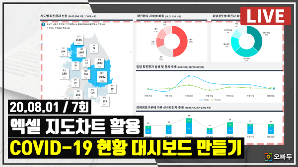 엑셀 live 7강 - 코로나 발생현황 대시보드 지도차트 응용_크기