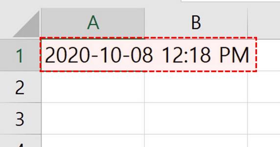 엑셀 오늘 날짜 현재 시간 입력
