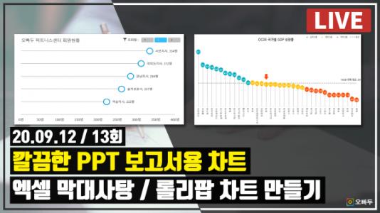 엑셀 LIVE 13강 - 엑셀 막대사탕 롤리팝 차트 만들기 썸네일_R