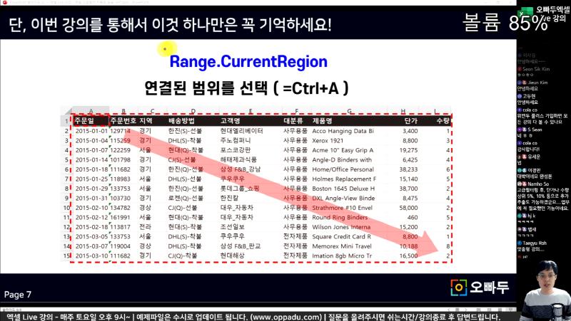 엑셀 고급필터 자동화 currentregion_R