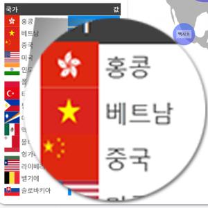 엑셀 국기 이미지 자동 출력